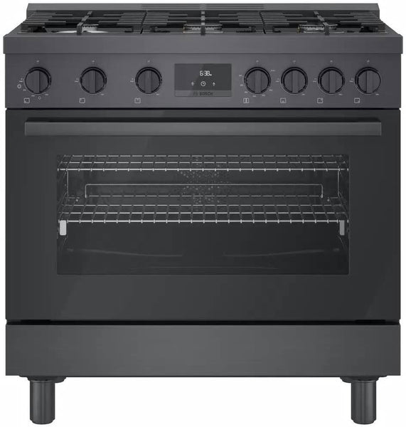 NIB Bosch 800 Series HDS8645U 36 Inches Duel Fuel Range with 6 Sealed Burners