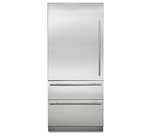 "Viking Virtuoso 6 Series 36"" Fully Integrated Bluezone Refrigerator MVBI7360WLSS - Alabama Appliance"