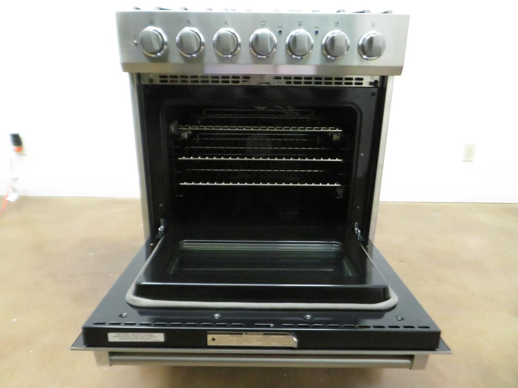 "Viking 3 Series 30"" 5 Sealed Burners Freestanding Gas Range RVGR33025BSS Pics - Alabama Appliance"