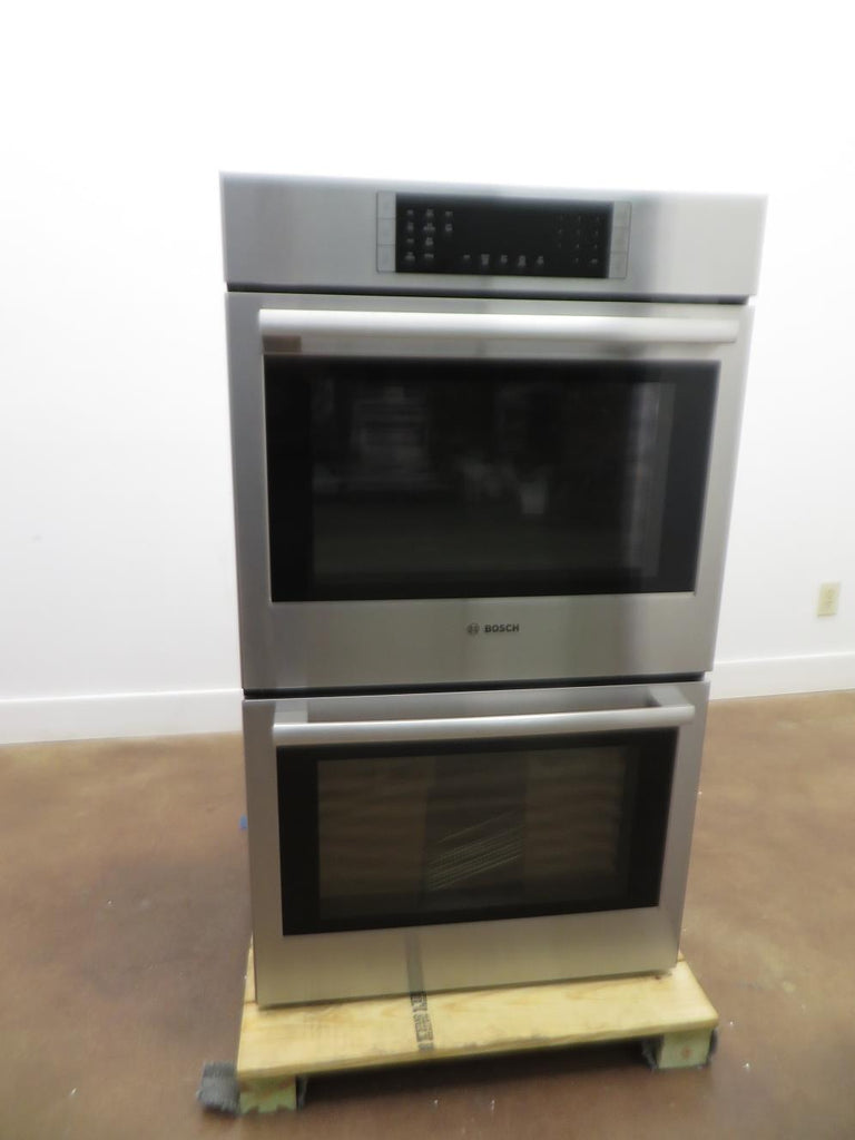 "Bosch 800 Series 30"" Double Electric Convection Wall Oven HBL8651UC Good Front - Alabama Appliance"