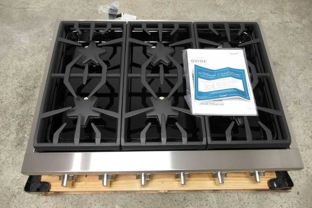"Thermador 36"" Precision simmering 6 Star Burner Stainless Gas Rangetop PCG366W - Alabama Appliance"