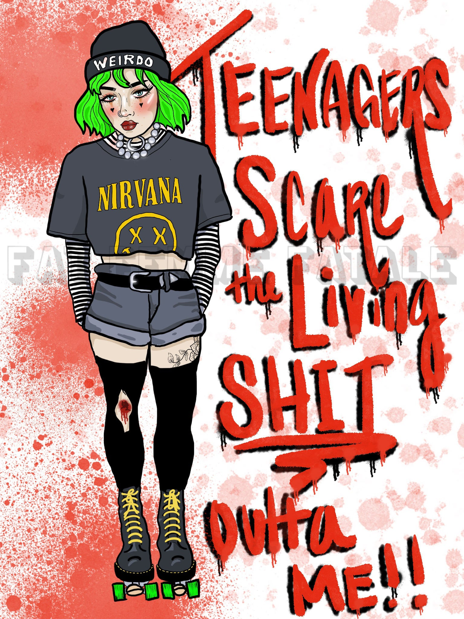 Teenagers Scare Me (Ivory) Print