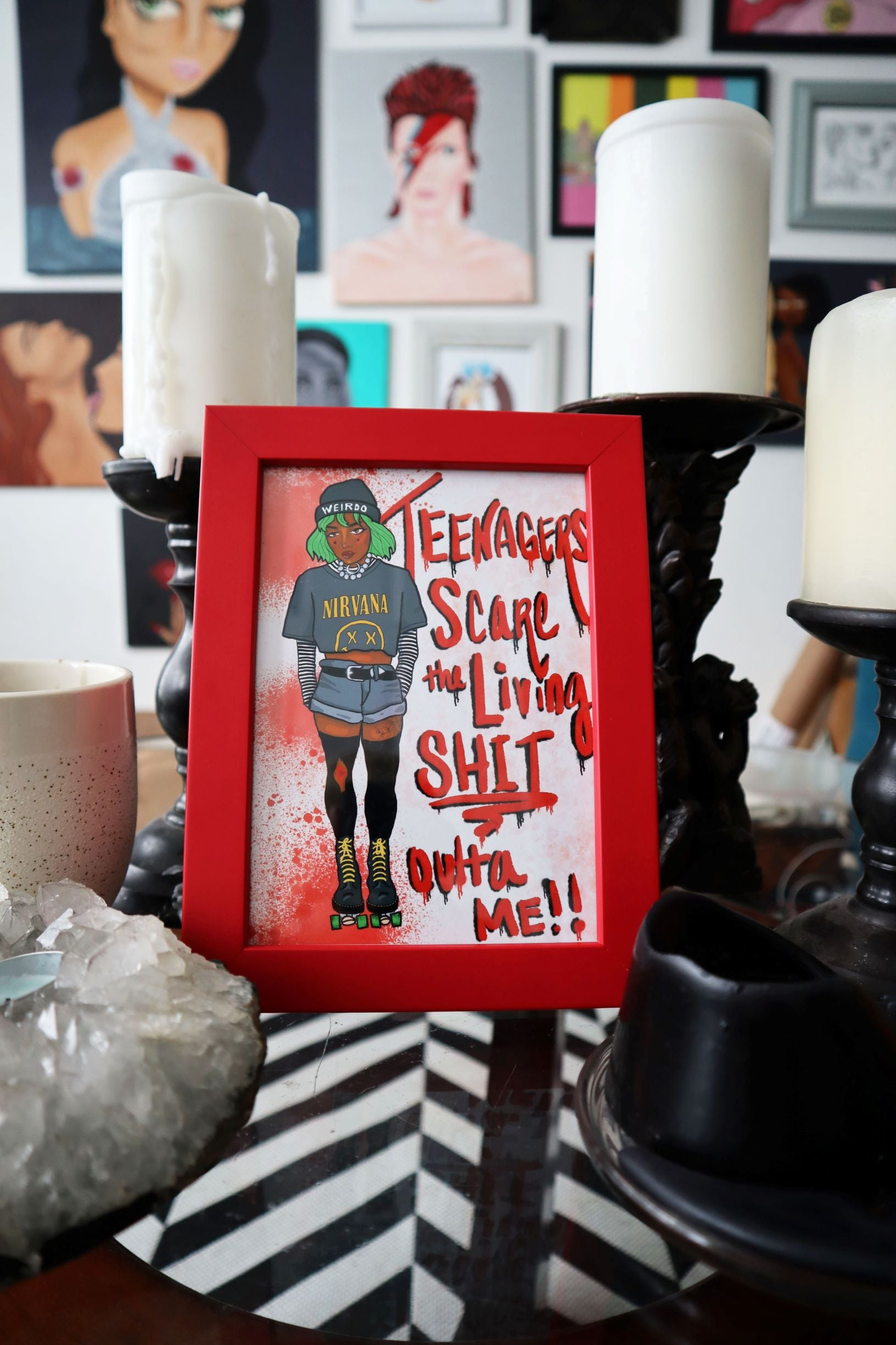 Teenagers Scare Me (Ebony) Print