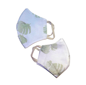 Leaf Print Face Mask