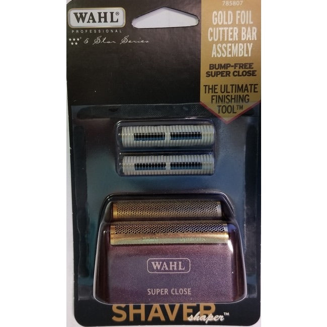 WAHL 5 STAR SHAVER SUPER CLOSE REPLACEMENT FOIL WITH CUTTER (RED) 7031-100