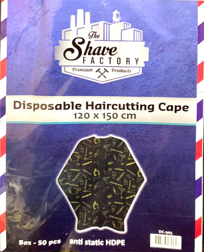 The Shave Factory Disposable Cape With Design  50ct