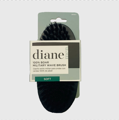 Diane D8167 100% Boar Military Brush Soft Bristles