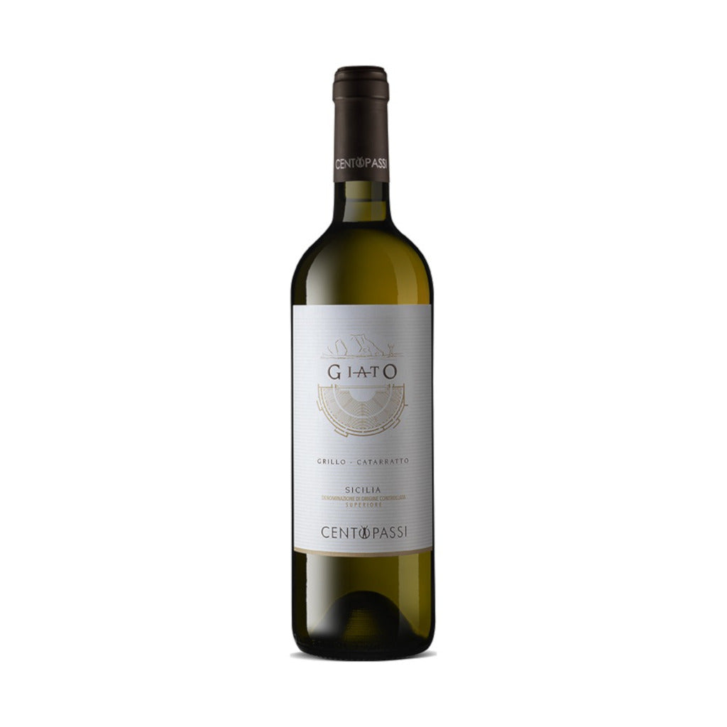 Vino Giato -  Bianco Di Sicilia - Grillo, Catarratto - Centopassi 750 ml - ZeroPerCento