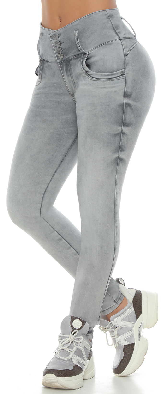 OHIO ab control high rise skinny gray jeans
