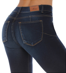 OREGON basic mid rise stretch jeans