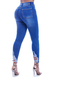 SOFIE high rise rippied skinny jeans