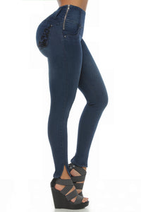 KAYLA Skinny boot, medium rise, jean tight silhouette type jeggings.