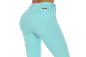 VERMONT high rise ab control aqua sailor pants