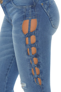 VIRGINIA strong ab control push up sexy jeans