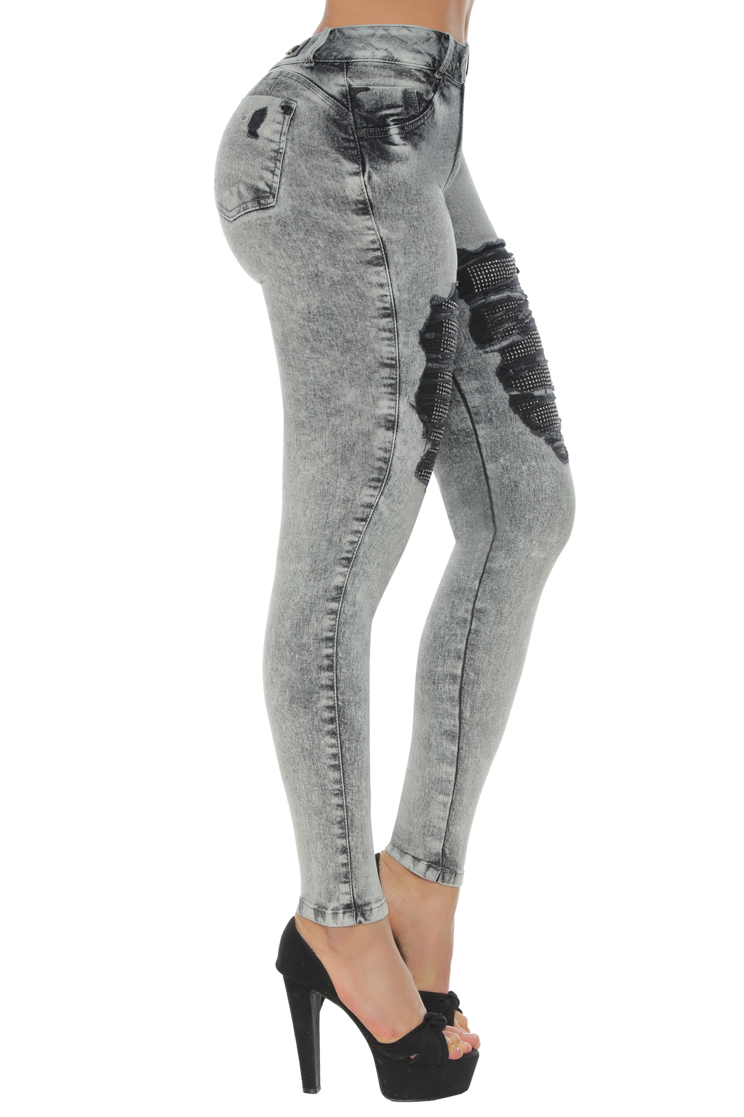 NEVADA Edgy style high rise skinny jeans