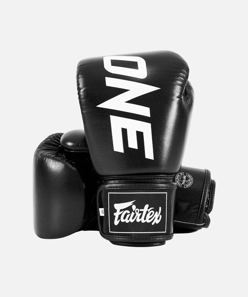 ONE x Fairtex Boxing Gloves (Black) - ONE.SHOP | The Official Online Shop of ONE Championship