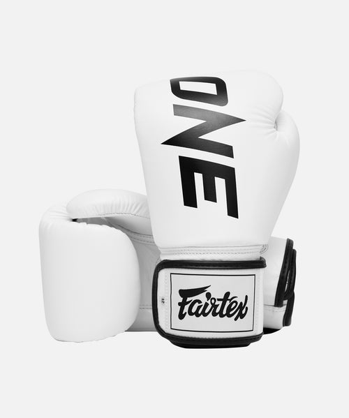 ONE x Fairtex Boxing Gloves (White) - ONE.SHOP | The Official Online Shop of ONE Championship
