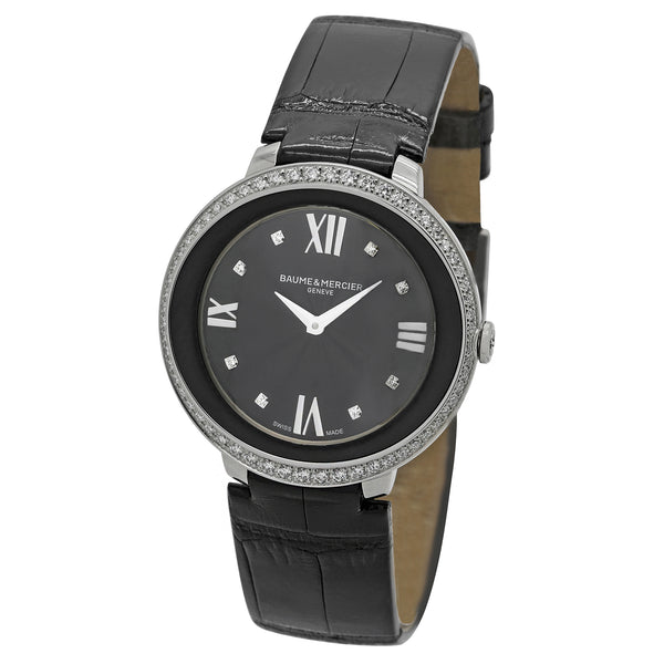 Baume & Mercier Promesse Black Dial Quartz Women's Watch MOA10166