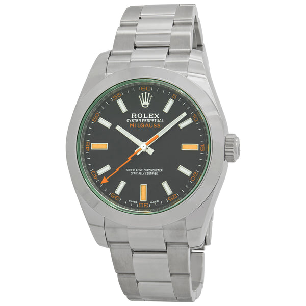 Rolex Milgauss Black Dial Automatic Watch 116400GV