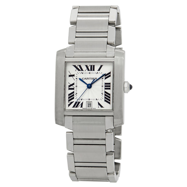 Cartier Tank Americaine Silver-tone Dial Automatic Men's Watch 2302