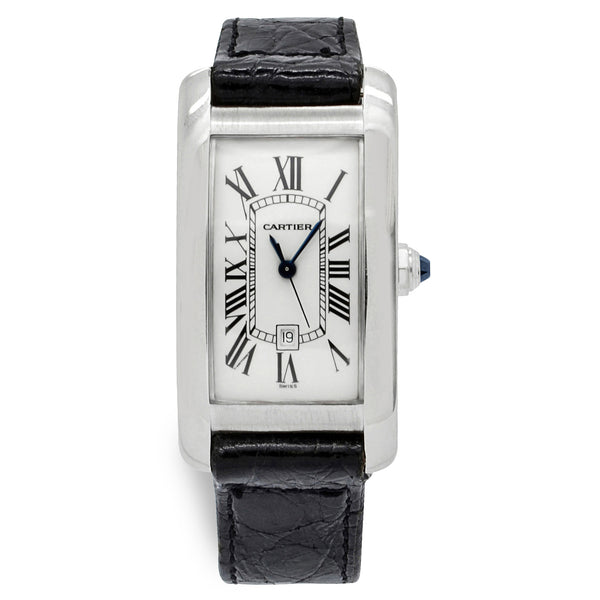 Cartier Tank Americaine 1726 White Dial Automatic Watch