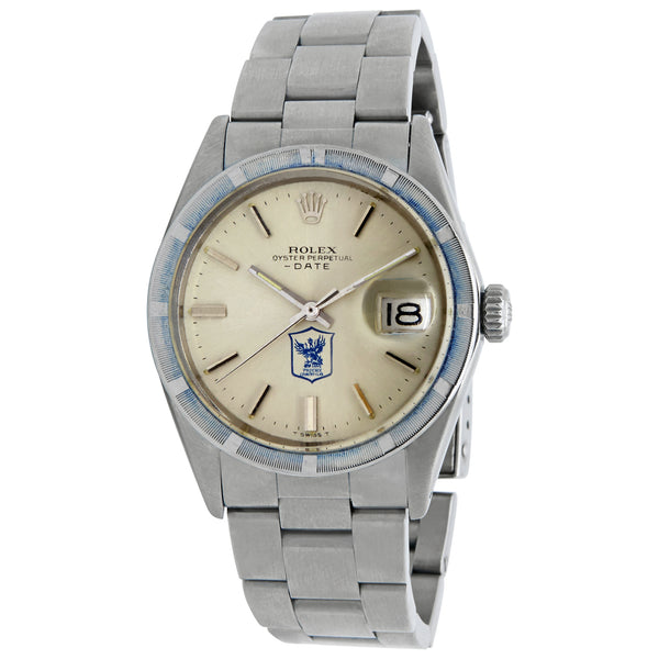 Rolex Oyster Perpetual Date Silver Dial Automatic Watch 15210