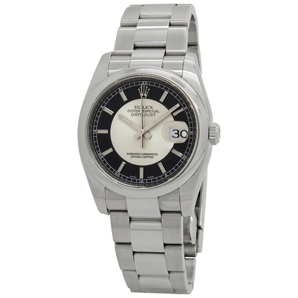 Rolex Datejust Black & Silver Dial Automatic Watch 116200