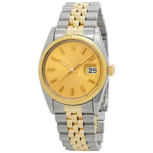 Rolex Datejust Champagne Dial Automatic Watch 16030 Two-Tone