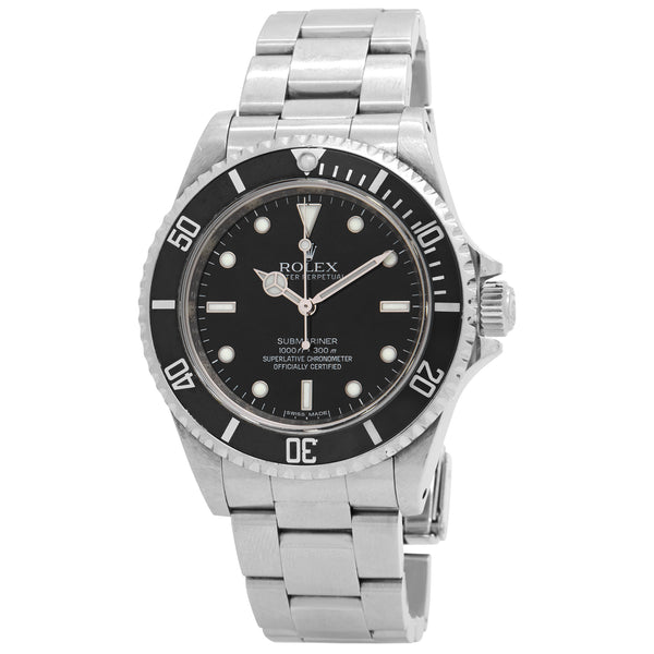Rolex Submariner No Date Black Dial Automatic Men's Watch 14060