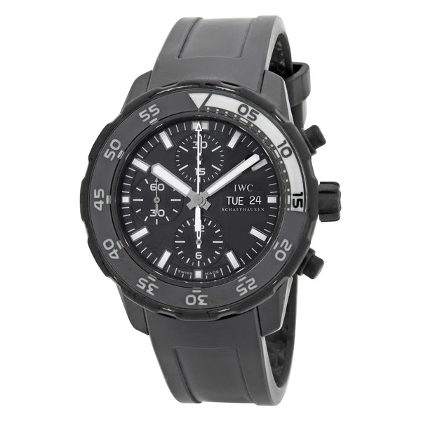 IWC Aquatimer Chronograph Galapagos Island Black Dial Automatic Men's Watch IW376705