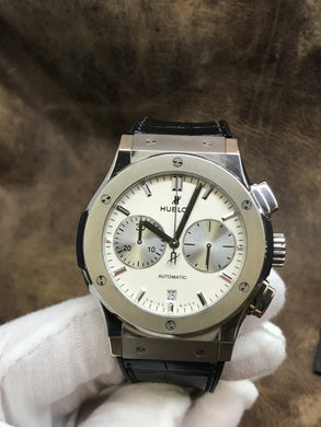 Hublot Classic Fusion Offwhite with Silver subdials Dial Automatic Men's Watch 541.NX.2611.LR