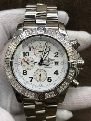 Breitling Super Avenger II Super Avenger White Dial Automatic Men's Watch A1337053