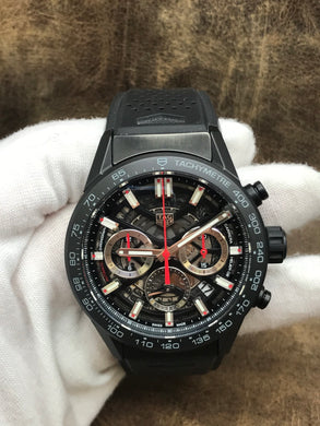 TAG Heuer Carrera Calibre 02 Carrera Black Skeleton Dial Automatic Men's Watch CBG2090