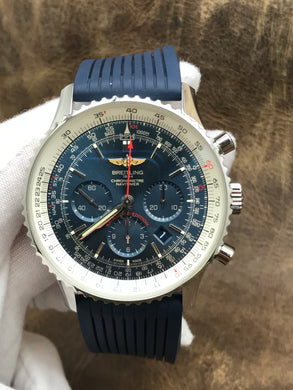 Breitling Navitimer Chrono Exclusive Edition Blue Dial Automatic  Men's Watch ab01274a/ca14