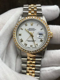 Rolex Datejust 16233 White Dial Automatic Men's Watch