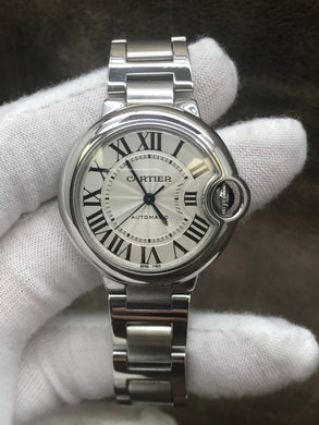 Cartier Ballon Bleu de Cartier 3489 / W6920071 Silver Dial Automatic Women's Watch
