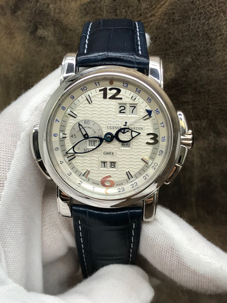 Ulysse Nardin GMT Perpetual 320-60 Silver Dial Automatic Men's Watch