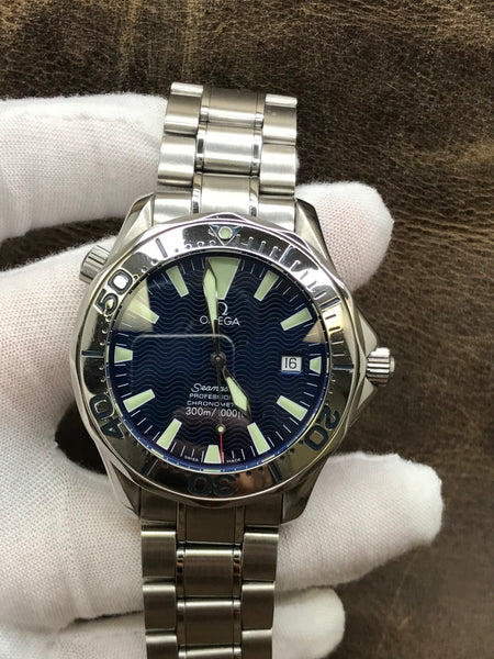 Omega Seamaster 300m 2255.80.00 Electric Blue Dial Automatic  Men's Watch