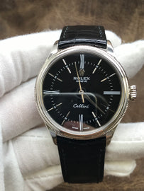 Rolex Cellini Time 50509 Black Dial Automatic Men's Watch