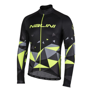 Nalini AHW Logo Thermal Jersey - Black / Yellow
