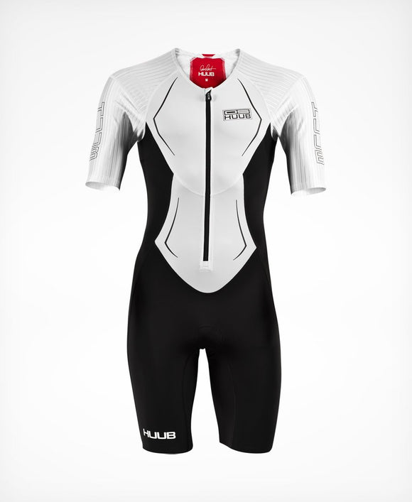 HUUB Dave Scott Race Suit - White (+6 FREE Maurten Gels - Value R342.00)