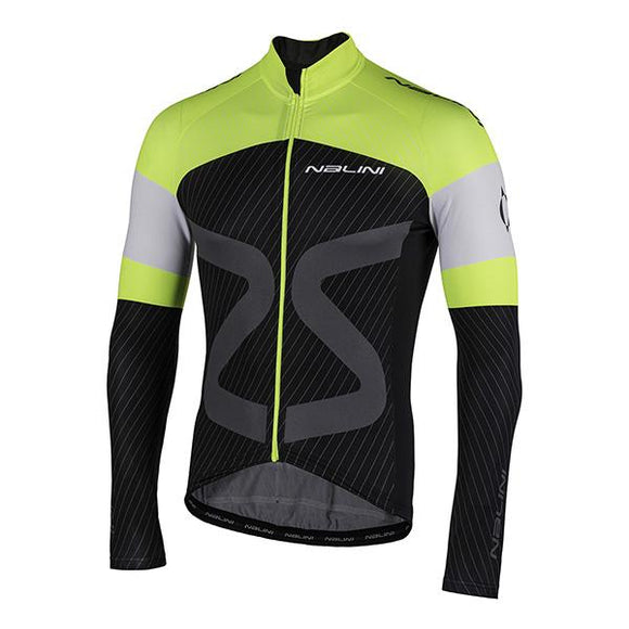 Nalini AHW TC Mid / Cool Season Jersey - Black / Yellow