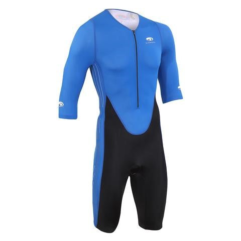 BLUESEVENTY MEN'S TX2000 SHORT SLEEVE TRI SUIT - BLUE