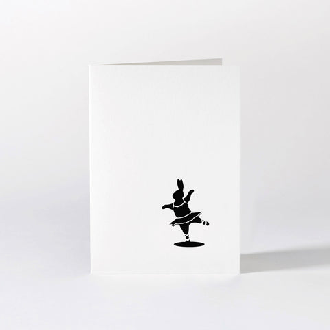 Ballet Dancing Rabbit Card