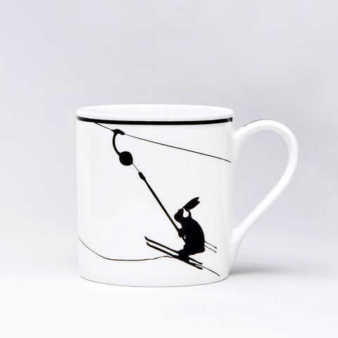 Button Lift Rabbit Mug