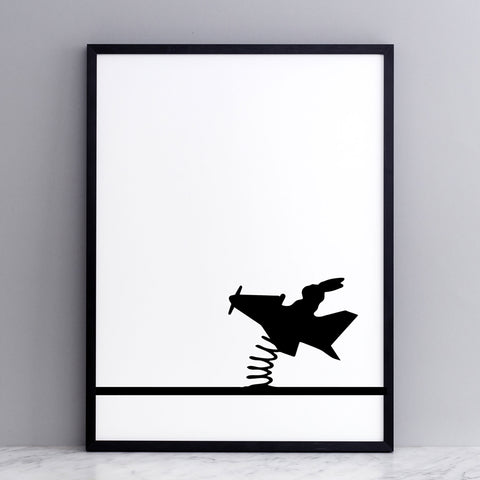 Flying Rabbit Print