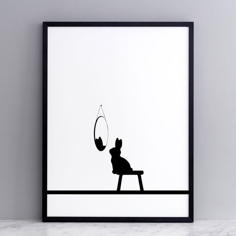 Reflective Rabbit Print