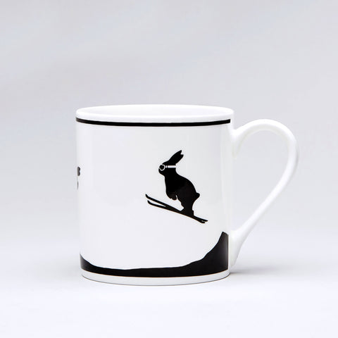 Ski Jumping Rabbit Mug