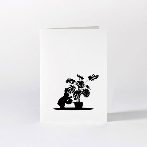 Watering Rabbit Card