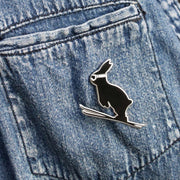Ski Jumping Rabbit Enamel Pin